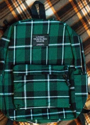 Рюкзак городской клетчатый