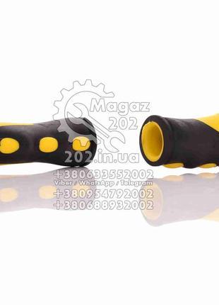 Ручки руля вело (резиновые, желтые) ТАЙВАНЬ ,02 79 03