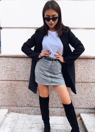 Теплая юбка с карманами