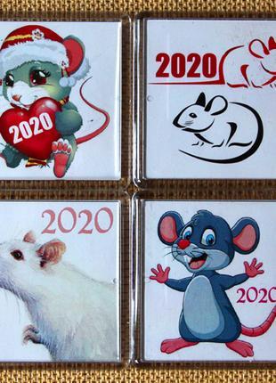 Сувенир подарок новогодний магнит крыса 2020