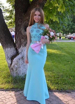 Платье выпускное. размер xs-s