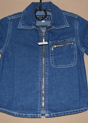 Котоновый пиджак для девочки размер 26 gee jau
