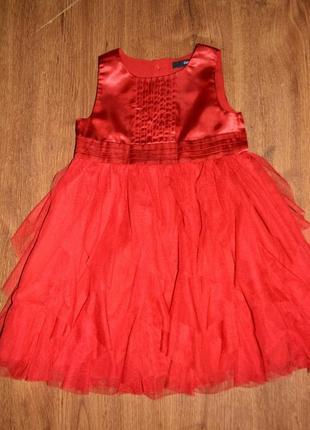 Платье нарядное george размер 2-3 года