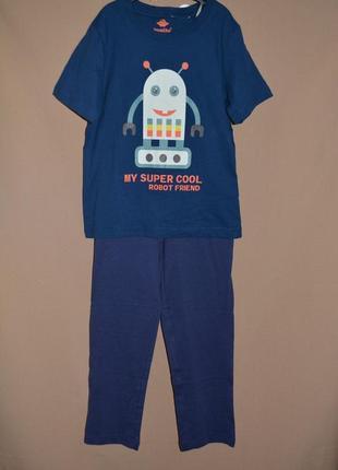 Пижама детская на мальчика lupilu размер 4-6 лет