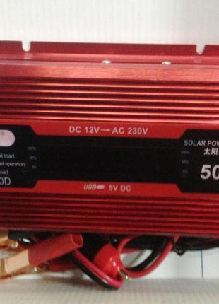 Преобразователь C 12V НА 220V KC-500D с дисплем invertor