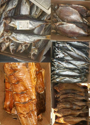 Рыба Вяленая, копченая, морож, свеж