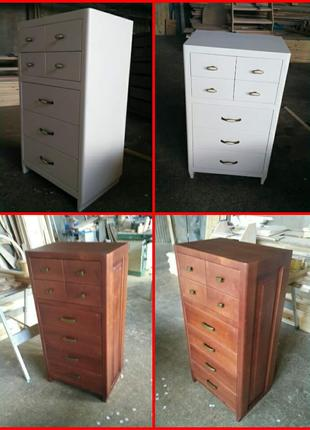 Восстановление деревянной мебели, покраска новой, замена цвета