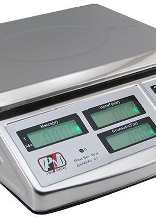 Весы промышленные Promotec 40 50 кг двухстор.6v С акам 5055