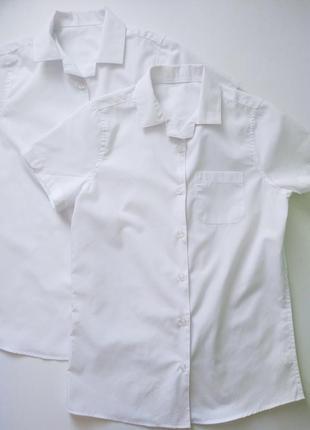 Школьная рубашка для девочки f&f англия размер 15-16 лет