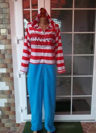 S - 44 р флисовый комбинезон пижама кигуруми