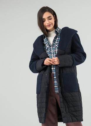 Зимнее пальто комбинированное season