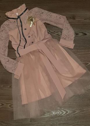 Нарядное платье с юбкой из фатина