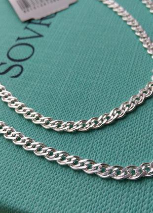 Серебряная цепочка цепь плетение нонна мона лиза 50 см серебро...