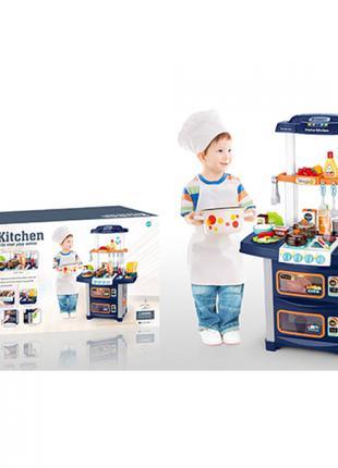 Детская игровая кухня с раковиной и водой WD-R38 с посудой