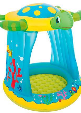 Детский надувной игровой центр Черепаха BW 52219 с навесом