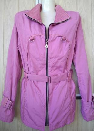 Нежная ветровка куртка парка пиджак на подкладке отделка вельвет