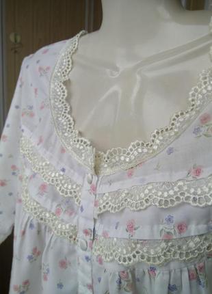 Нежная ночнушка сорочка для беременной кормящей женщины на пуг...