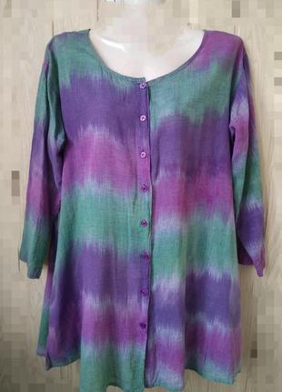 Комфортная блуза 100% коттон кофта рубашка индия