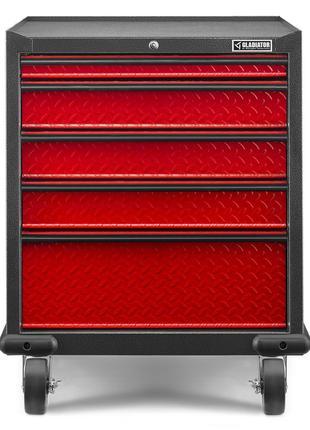Тумба Модульна На 5 Висувних Ящиків Червона Гоночна Серія GLADIAT