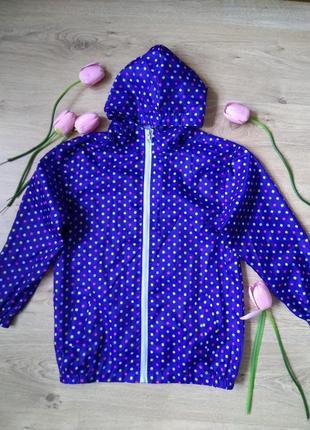 Лёгкая голубая ветровка avenue/на рост 134-140 см/куртка с кап...