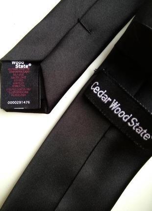 Чёрный галстук мужской узкий краватка