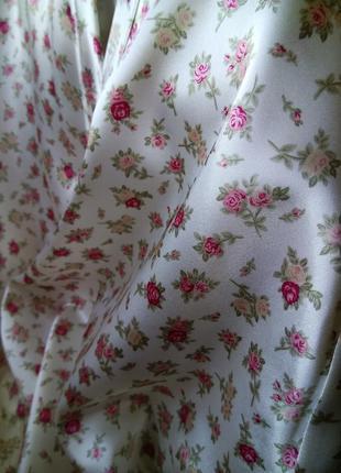 Приятный атласный женский халатик на запах/xxl/халат с длинным...