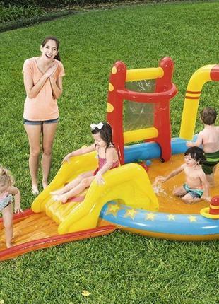 Детский надувной-игровой центр BW 53068 с горкой