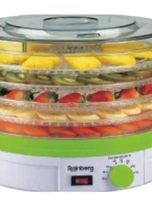 Сушилка электрическая для овощей и фруктов 800W Rainberg NO:RB912