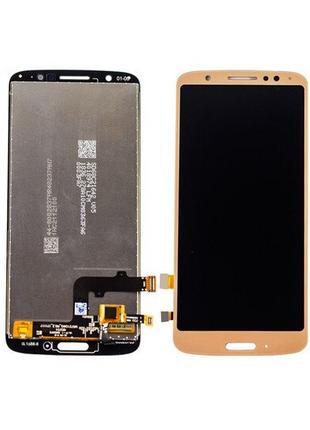 Дисплей Moto G6 XT1925 + сенсор золотой