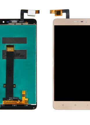 Дисплей Xiaomi RedMi Note 3 + сенсор золотой