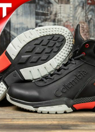 💣 зимние ботинки на меху ► коламбия columbia  черные