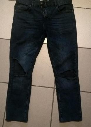 Рваные джинсы next skinny (укороченные)