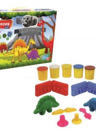 Набір тіста для ліплення 3D фігурок Динозаври Heroes Play-Toy