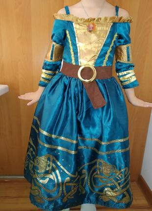 Карнавальный костюм детский принцесса мерида  на 5-6 лет