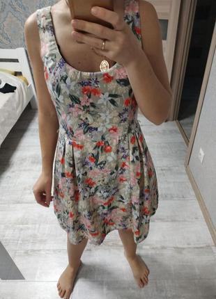 Очень красивое нежное платье миди в цветы