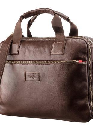 Мужская кожаная сумка под ноутбук на 2 отделения SHVIGEL 19107...