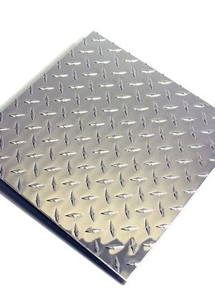 Лист нержавеющий рифленый AISI 304 (08Х18Н10), 2мм 1х2м