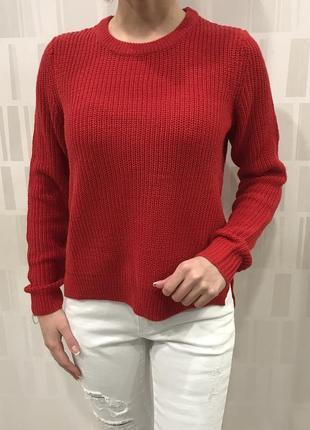 Красный свитер крупной вязки свитерок джемпер. cropp. размеры ...