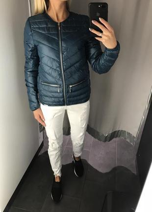 Осенняя куртка на синтепоне стёганная курточка. amisu. размеры...