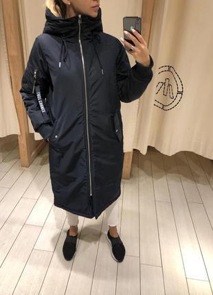 Длинный утеплённый бомбер тёплая куртка. house. размеры уточня...