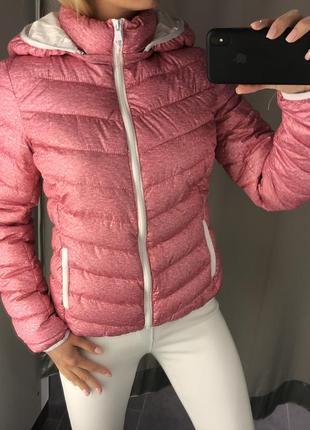 Розовая демисезонная куртка стёганая курточка на синтепоне. am...