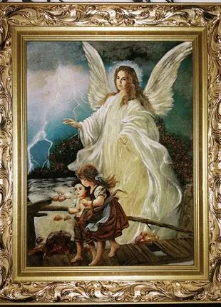 """Картина из янтаря """"Ангел Хранитель"""" 50/40"""