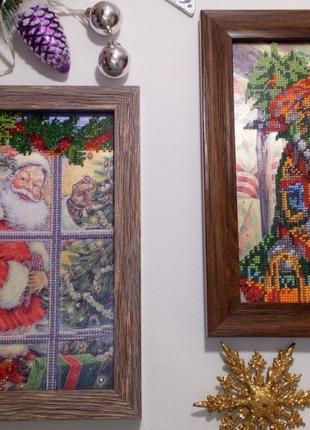 Картины из бисера новый год декор вышивка бисером