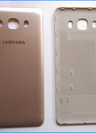 Задняя крышка для Samsung J710F Galaxy J7 (2016), золотистая, ...