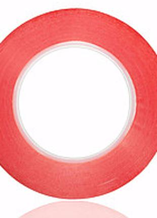 Скотч двухсторонний, акриловый, прозрачный, 2мм - 25м
