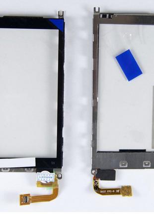 Тачскрин (сенсор) для Nokia X6-00, черный, с металлической рам...