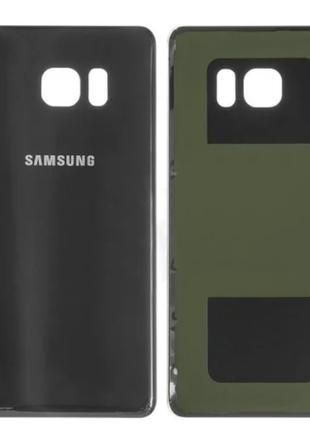Задняя крышка для Samsung N930F Galaxy Note 7, черная, Black O...