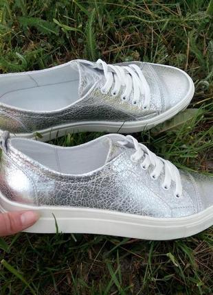 Кеды серебро