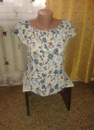 Цветочная блуза на лето