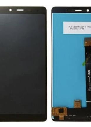 Дисплей (экран) для Nokia 1 Plus Dual Sim + тачскрин, черный